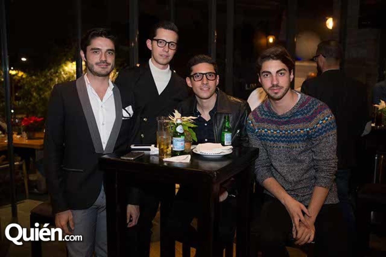 Diego Cantú,Juan de la Concha,Daniel Saldaña y Rubén Kuri