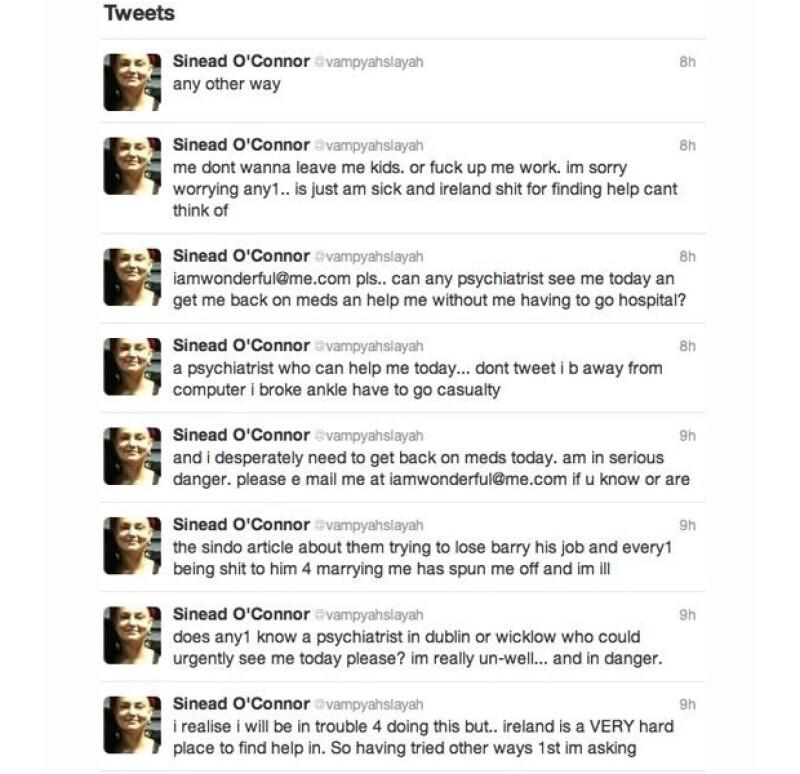 La irlandesa, que en un inicio resultó su fuente de inspiración, le escribió una carta abierta en la que le recomendó no dejarse prostituir. Ante esto, Miley reacciona en su cuenta de Twitter.
