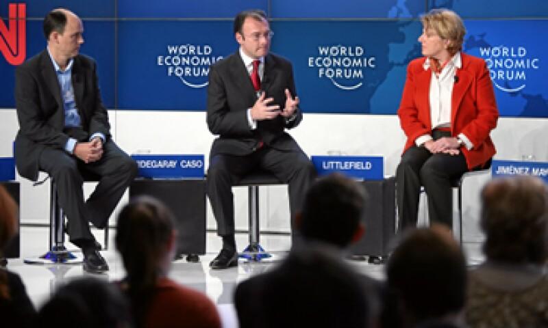 En Davos está presentando los ejes económicos del nuevo Gobierno a la élite política, empresarial y financiera mundial, afirmó Videgaray. (Foto: World Economic Forum)