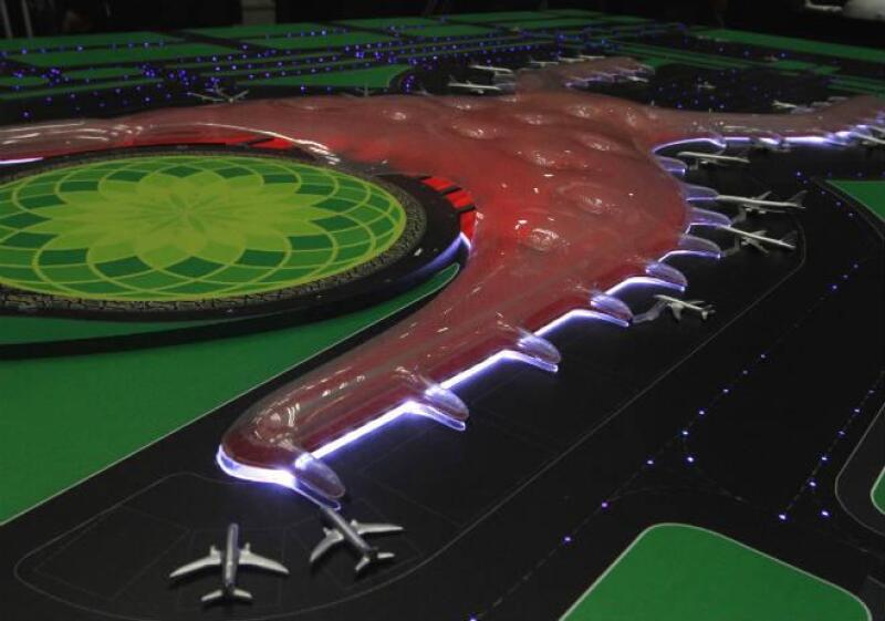 Maqueta del proyecto de nuevo aeropuerto capitalino