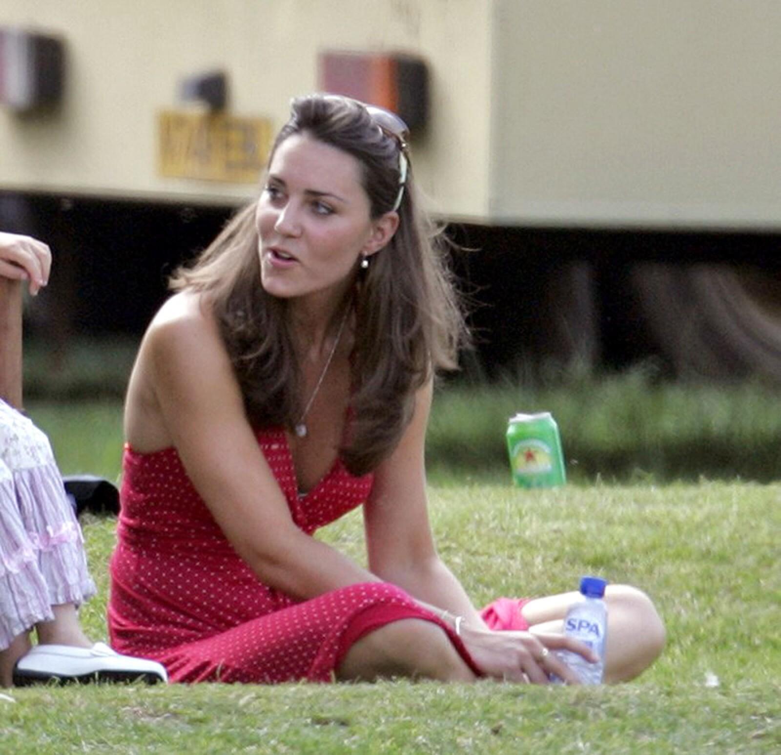 Prince William and Kate Middleton at the Chakravarty Polo Match, Ham Polo Club, Richmond, Surrey, Britain - 17 Jun 2006