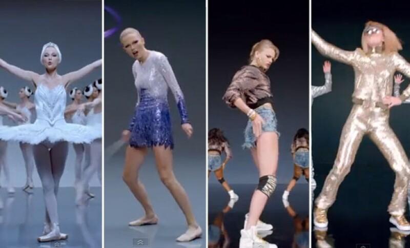 En el video Taylor atravesó por varios cambios, en todos ellos busca bailar y comportarse como una profesional pero se deja ver lejos de lograrlo.