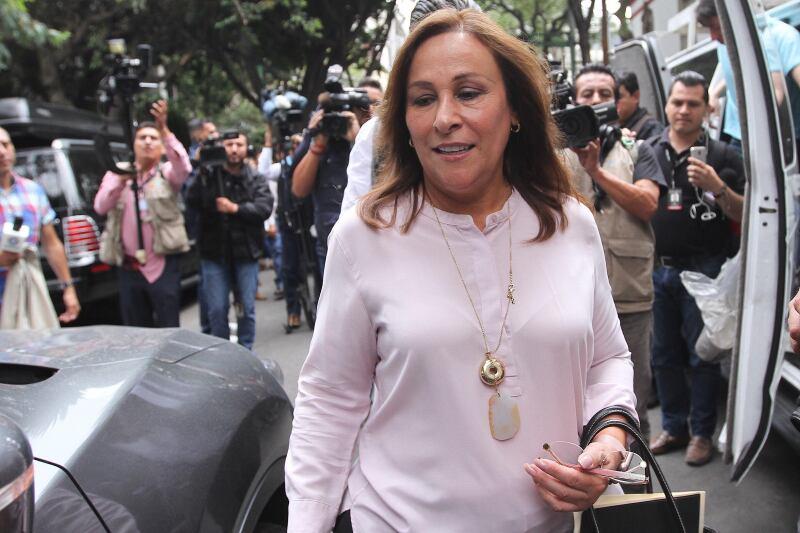Rocío Nahle sale de la casa de transición de López Obrador