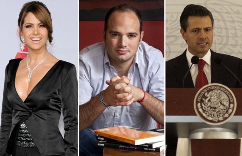 Lucero, León Krauze y el presidente Enrique Peña Nieto fueron de los primeros en tuitear.