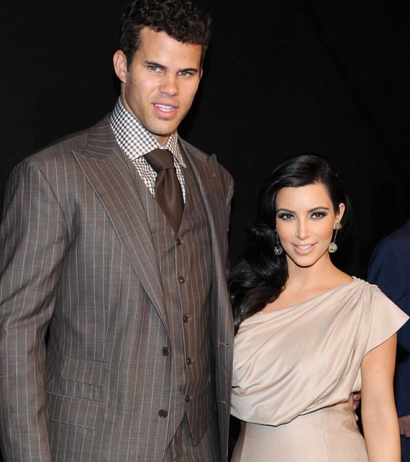 Kim Kardashian y Kris Humphries comenzaron su relación en 2011 y aunque duraron varios meses como novios, cuando se casaron, sólo duraron 72 días como marido y mujer.