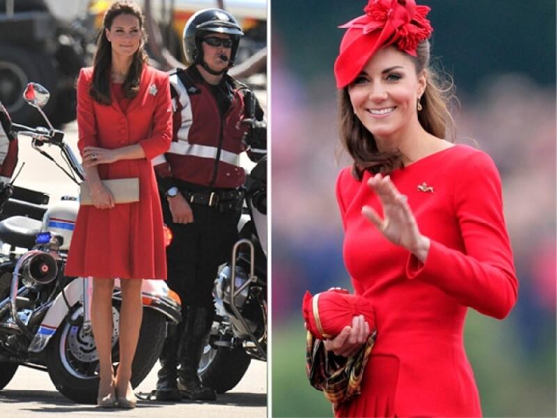 Kate fue nombrada `La dama de rojo´.