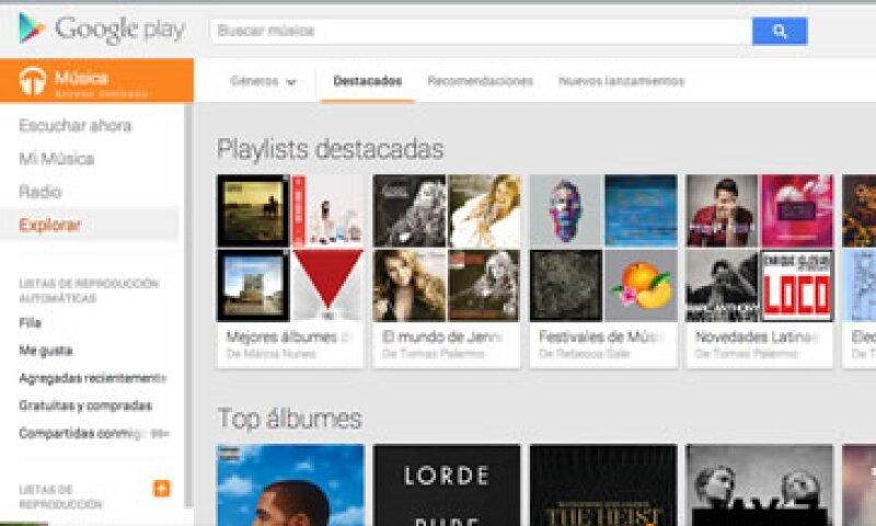 Quienes lo contraten tendrán derecho a un casillero digital para almacenar 20,000 canciones. (Foto: Cortesía Google)