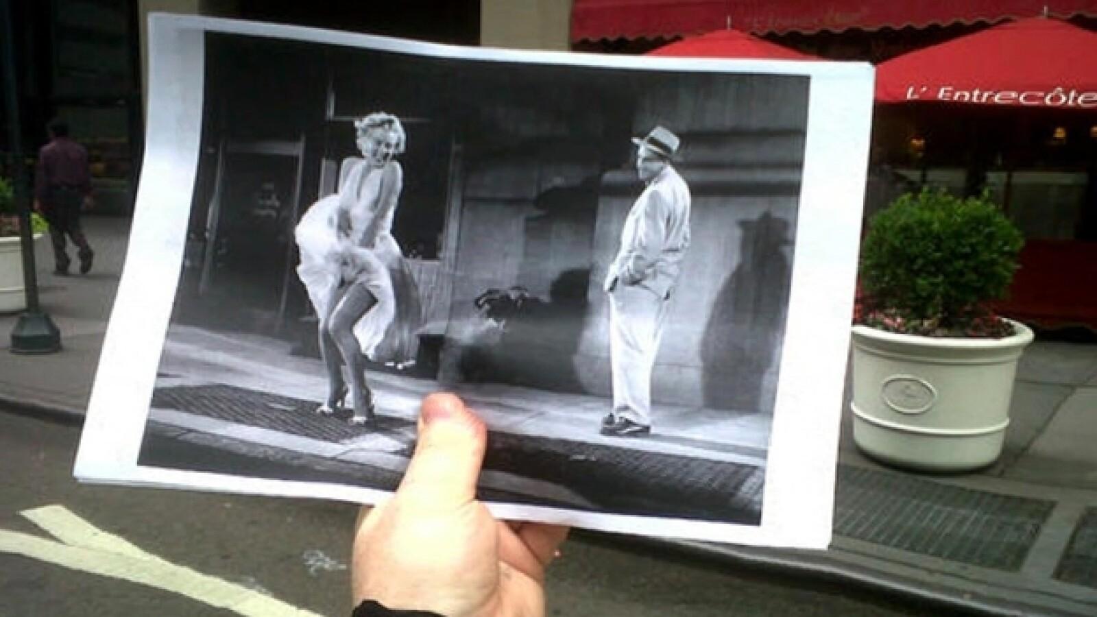Marilyn Monroe, La tentación vive arriba, locación,