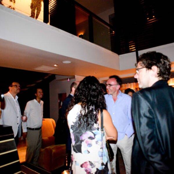 Cena de bienvenida al director de cine Danny Boyle.