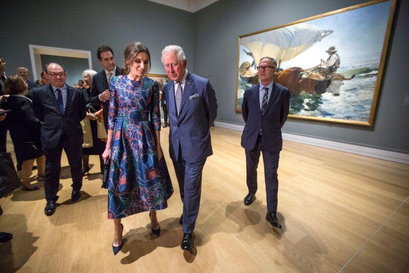 Reina Letizia de España y el príncipe Carlos