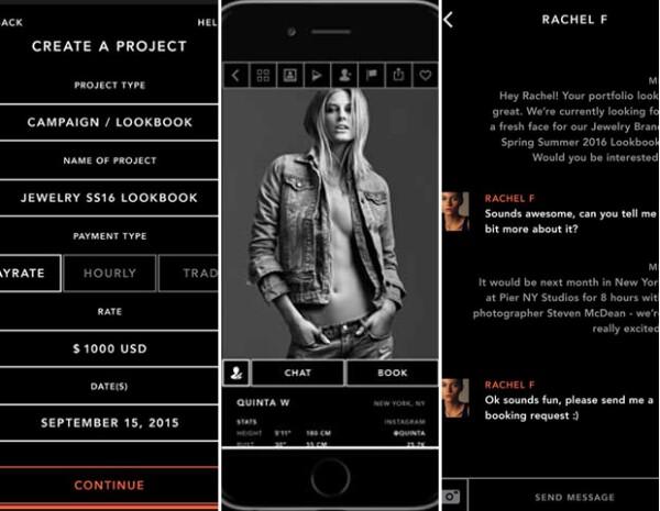 Swipecast, Uber para modelos y productores de moda.