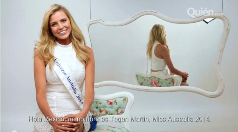 La bellísima Tegan Martin viajó hasta el foro de Quién para compartir sus consejos de maquillaje, mismos que aplica antes de un concurso de belleza.