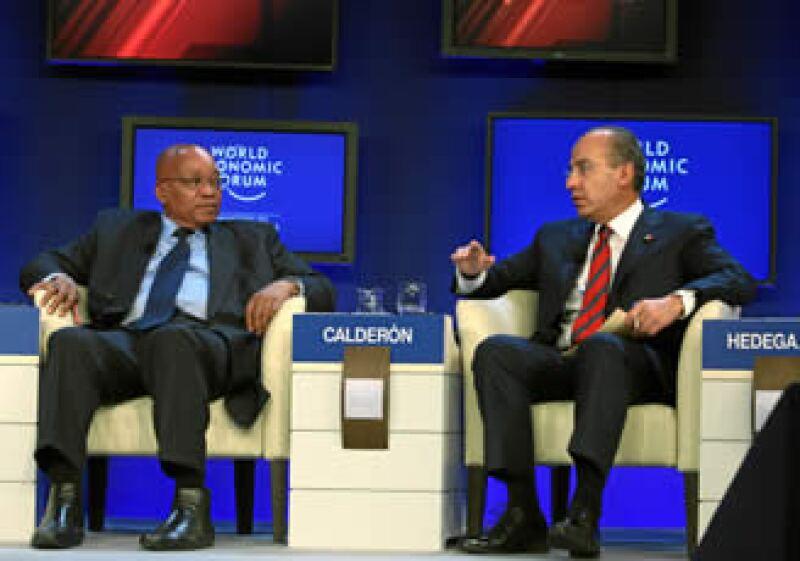 El presidente Calderón aseguró que México es un lugar seguro para las inversiones. (Foto: Cortesía WEF)