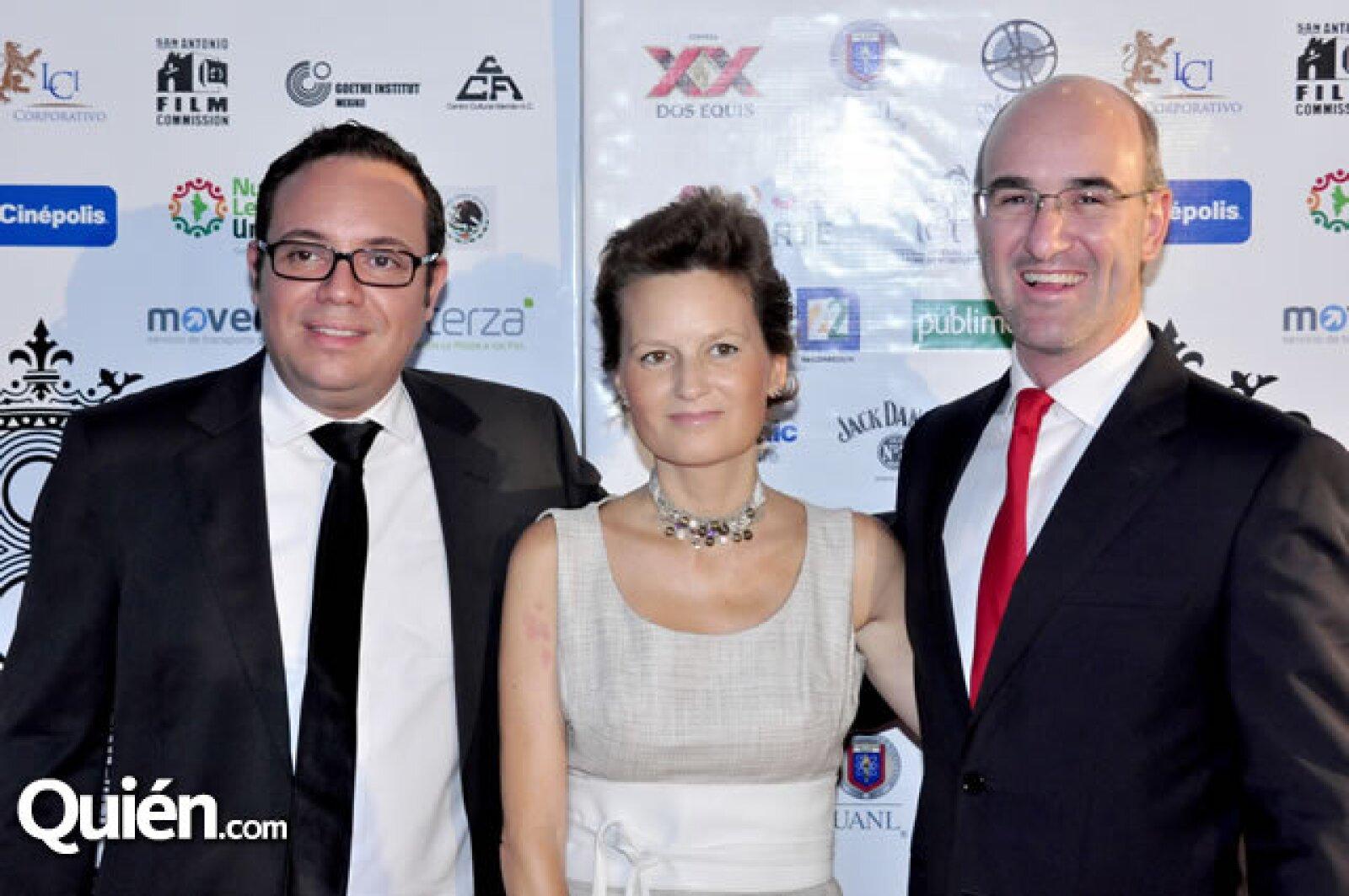 Juan Manuel González, María Conde y José Manuel Ramírez