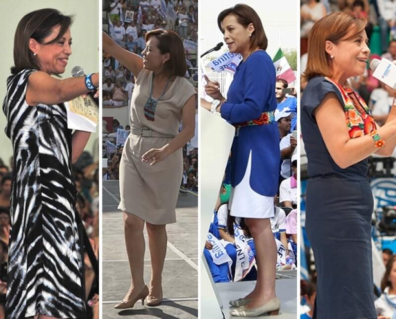 Josefina cambió los trajes por vestidos.