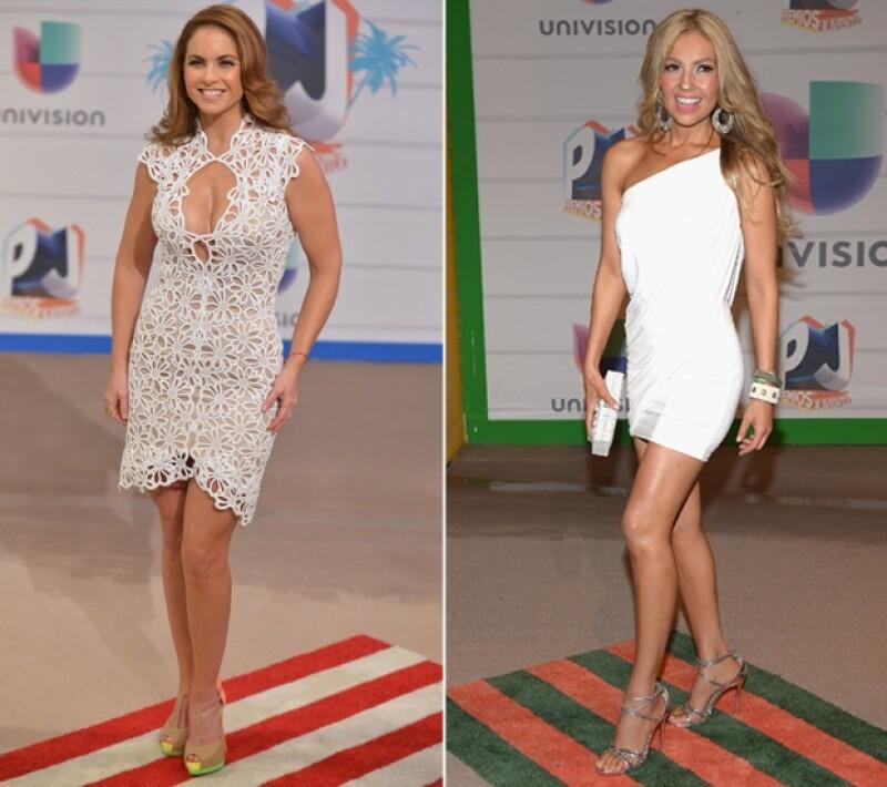 Lucero y Thalía fueron las divas de la noche en los Premios Juventud.
