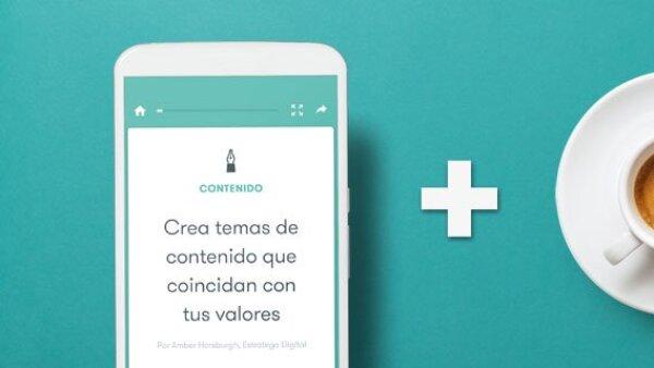 La aplicación fue pensada desde su origen para dispositivos móviles.