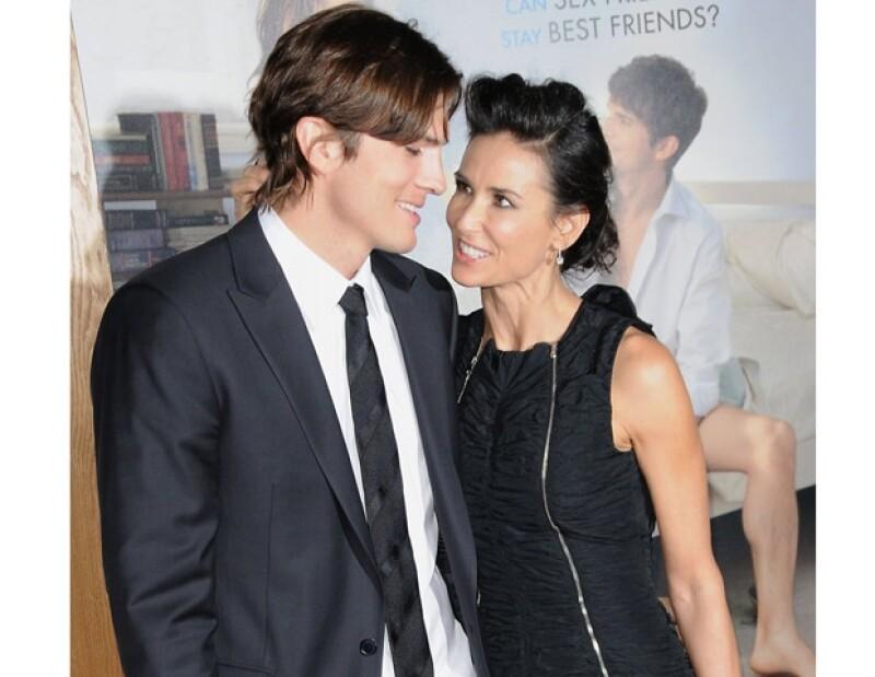 Ashton y Demi han estado juntos pese a los rumores de infidelidad.