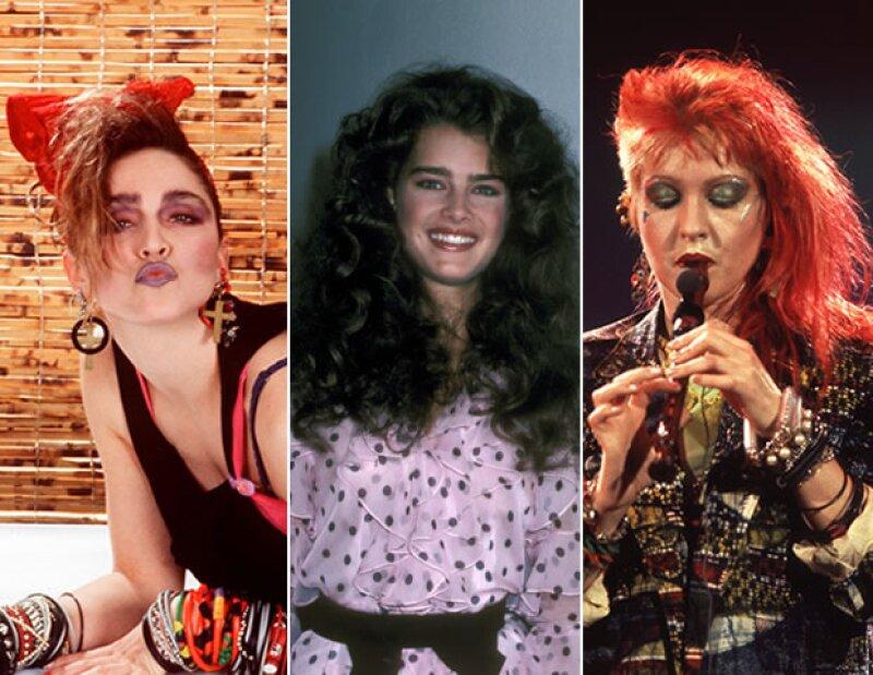 Madonna, Brooke Shields y Cyndi Lauper fueron muy celebradas en los 80's por sus estilos.