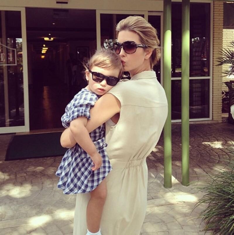 Ivanka con su pequeña Arabella.
