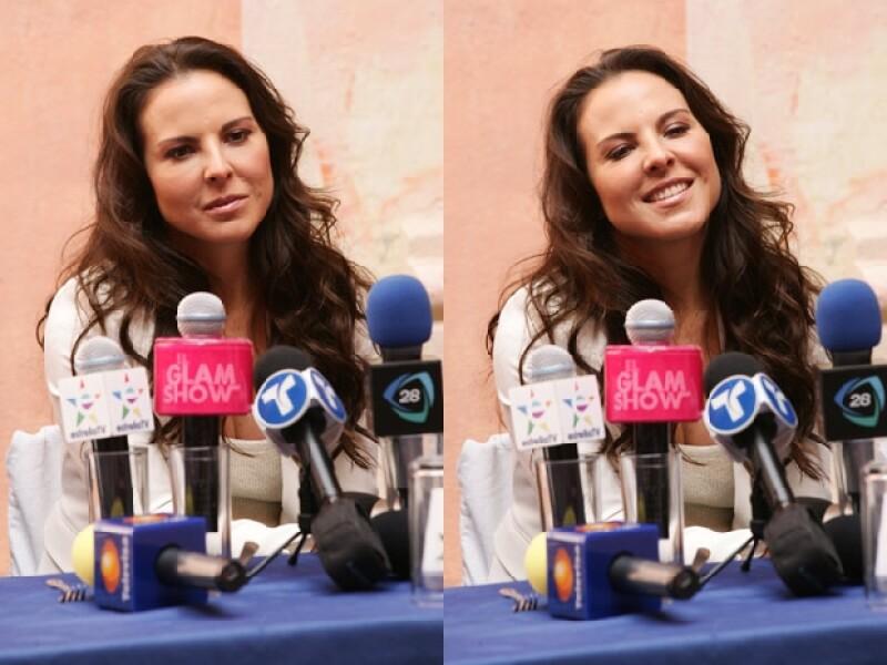 Kate respondió todas las preguntas de los medios de comunicación.