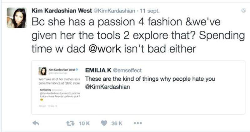Kim sacó su instinto maternal y defendió a Northy