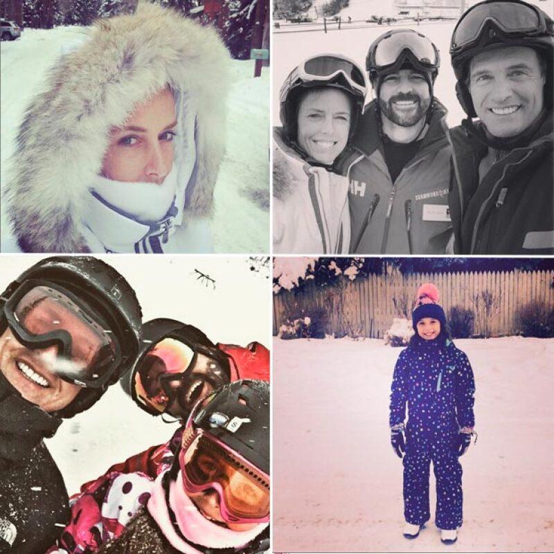 La pareja, que cumplió años de casados el pasado 20 de diciembre, se encuentra disfrutando de unas heladas vacaciones en Aspen, Colorado.