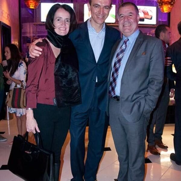 Gisele Berlie, Marc Branet y Luis Méndez