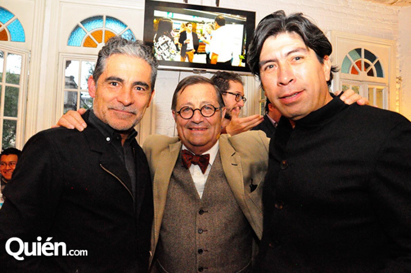 Felipe Leal,Félix Sánchez y Pepe Moayo