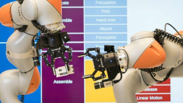 robot industrial de 2 brazos de Siemens
