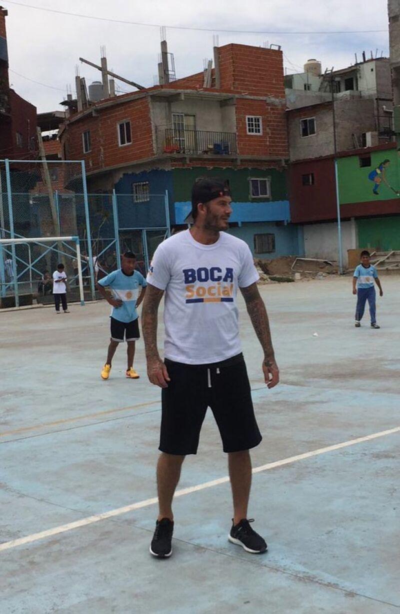 David Beckham en Argentina.