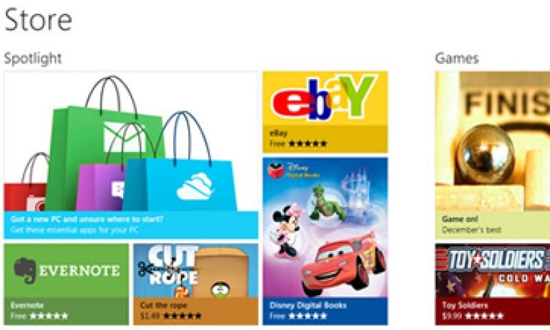 Las categorías con las que iniciará este bazar digital incluyen juegos, viajes, entretenimiento, negocios y estilo de vida, entre otras. (Foto: Cortesía Microsoft)