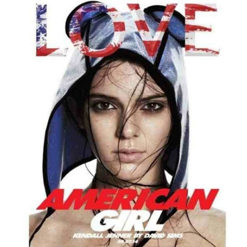 "Así luce Kendall, como la ""American Girl"" de The Love Magazine."