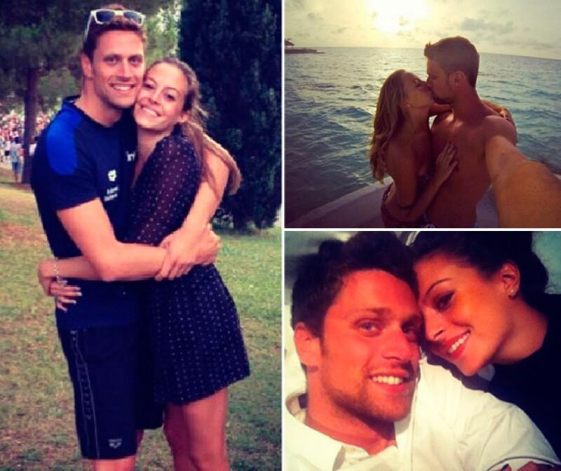 A pesar de ser perfecto, Luca tiene novia desde hace tres años, Constanza, quien también es nadadora.
