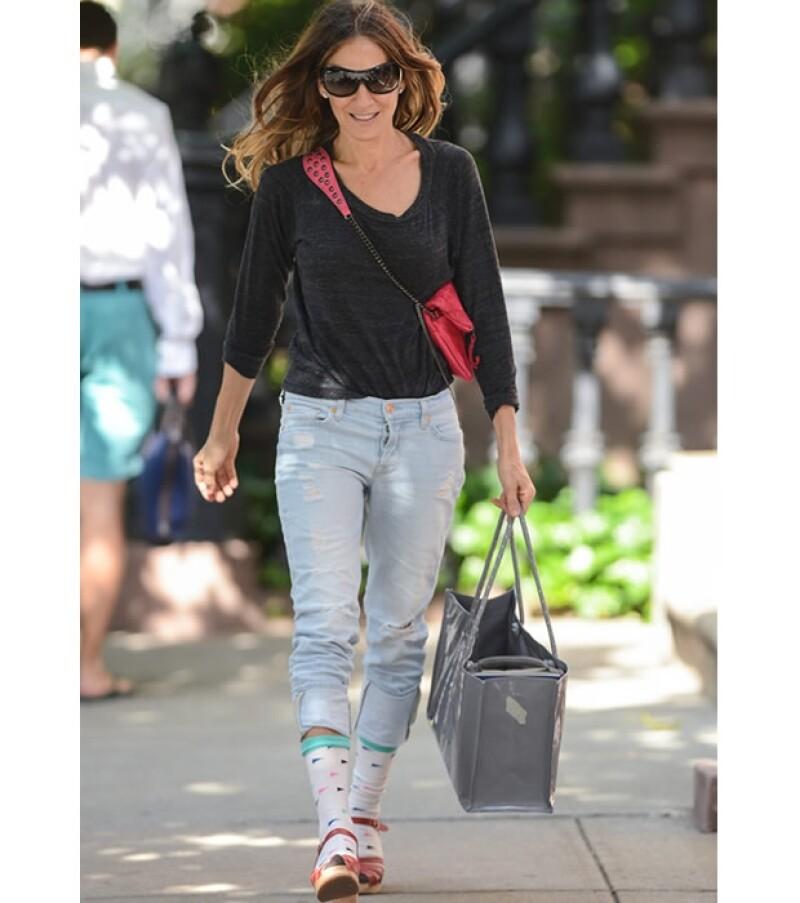Sarah paseando por las calles de Nueva York.