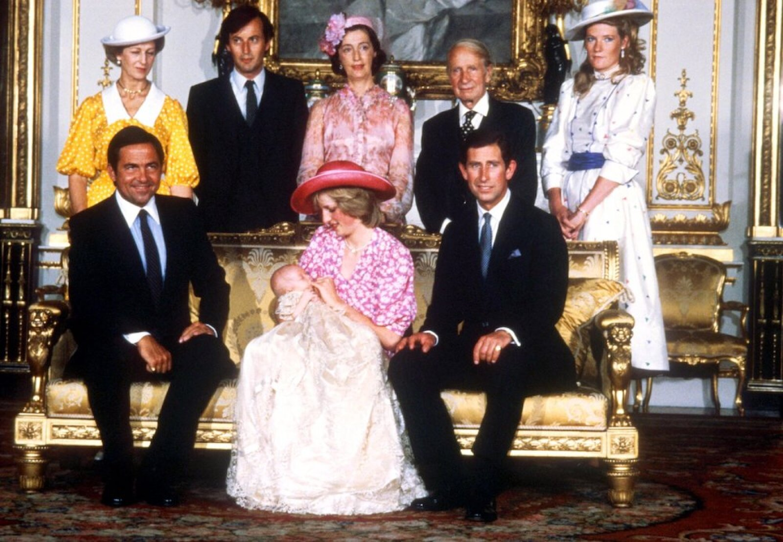 OFFICIAL CHRISTENING PICTURE OF PRINCE WILLIAM - 1982