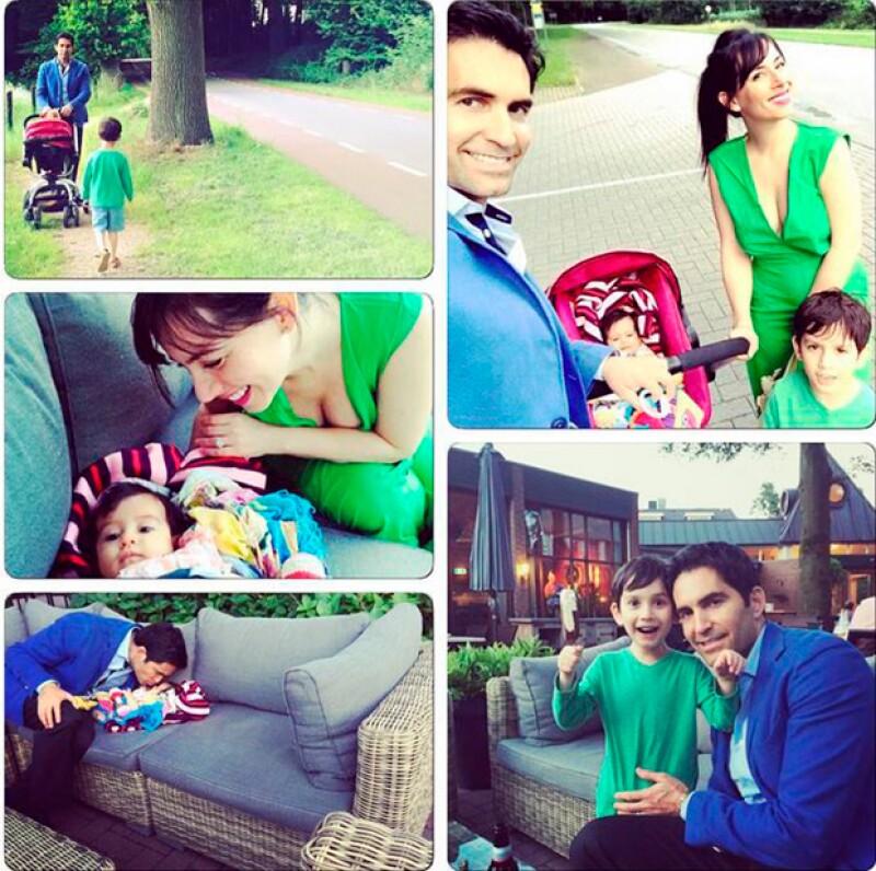 La conductora compartió en Instagram sus mejores momentos al lado de su esposo y sus dos hijos, Iam y Elah.
