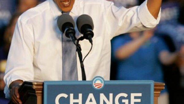 El candidato demócrata a la presidencia de Estados Unidos, Barack Obama, quedó primero entre los votados.