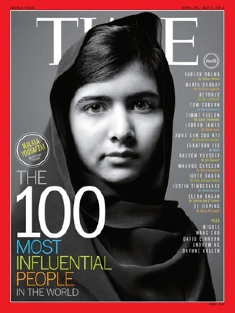 Malala apareció en la revista Time como una de 100 personalidades más influyentes del mundo.