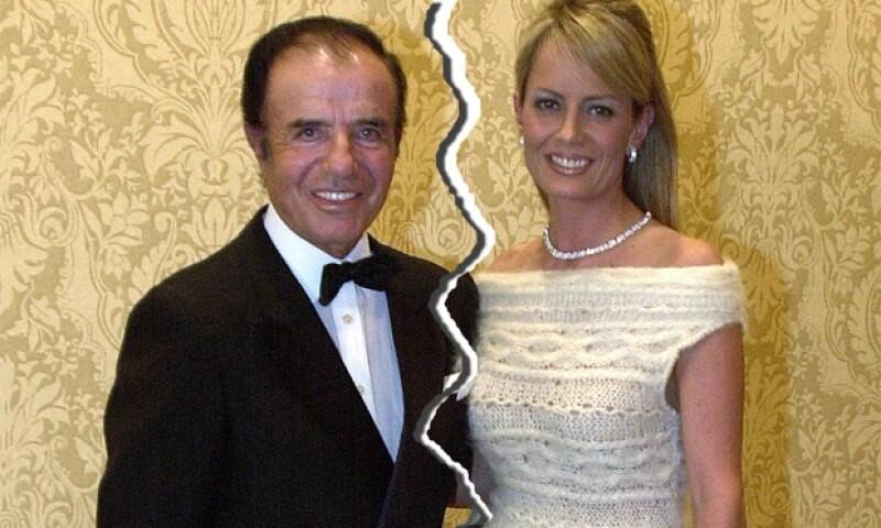 Cuando se casaron la hija de Carlos Menem aseguró que Bolocco no podía ni besar a su padre.