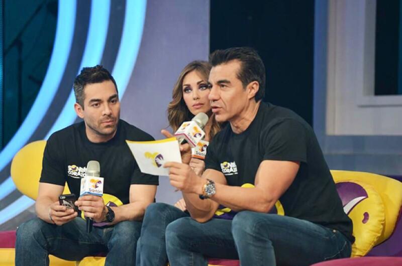La actriz compartió la conducción con Omar Chaparro y Adrián Uribe.