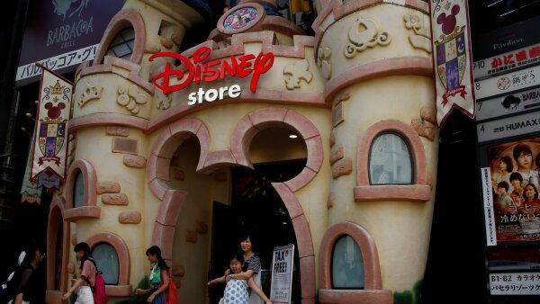FILE PHOTO: The entrance of Disney store is pictured in Tokyo