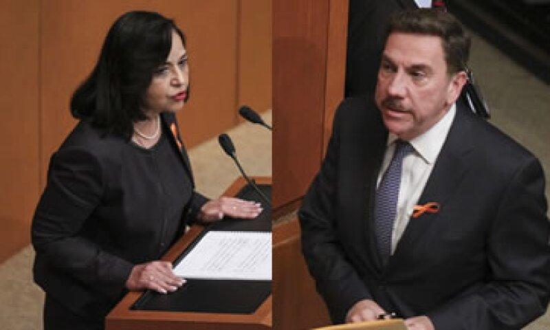 Piña Hernández y Javier Laynez enfrentaron críticas de algunos senadores (Foto: Cuartoscuro/Archivo)