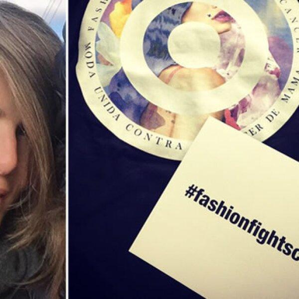 Montserrat Oliver: `¡Apoyando fundación contra el cáncer! ¡Bien H&M!´, escribió la empresaria y diseñadora.