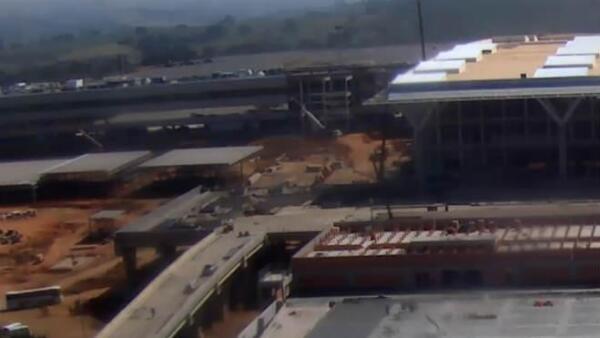 Obras del aeropuerto de Viracopos, en Sao Paulo, Brasil