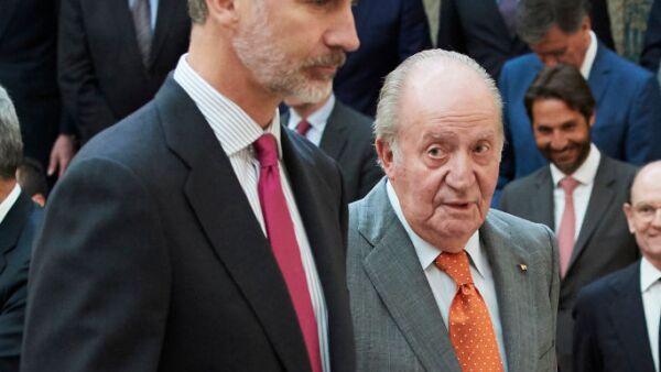 Felipe VI y Juan Carlos de España