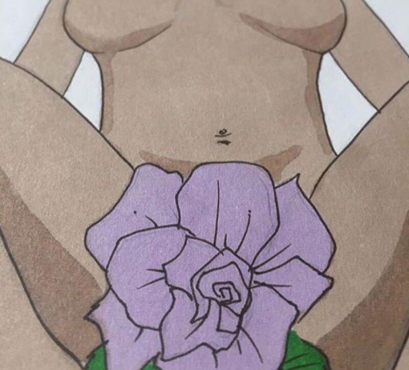 Este es el dibujo, del ilustrador Markus Prime, que la también cantanta había publicado anteriormente.