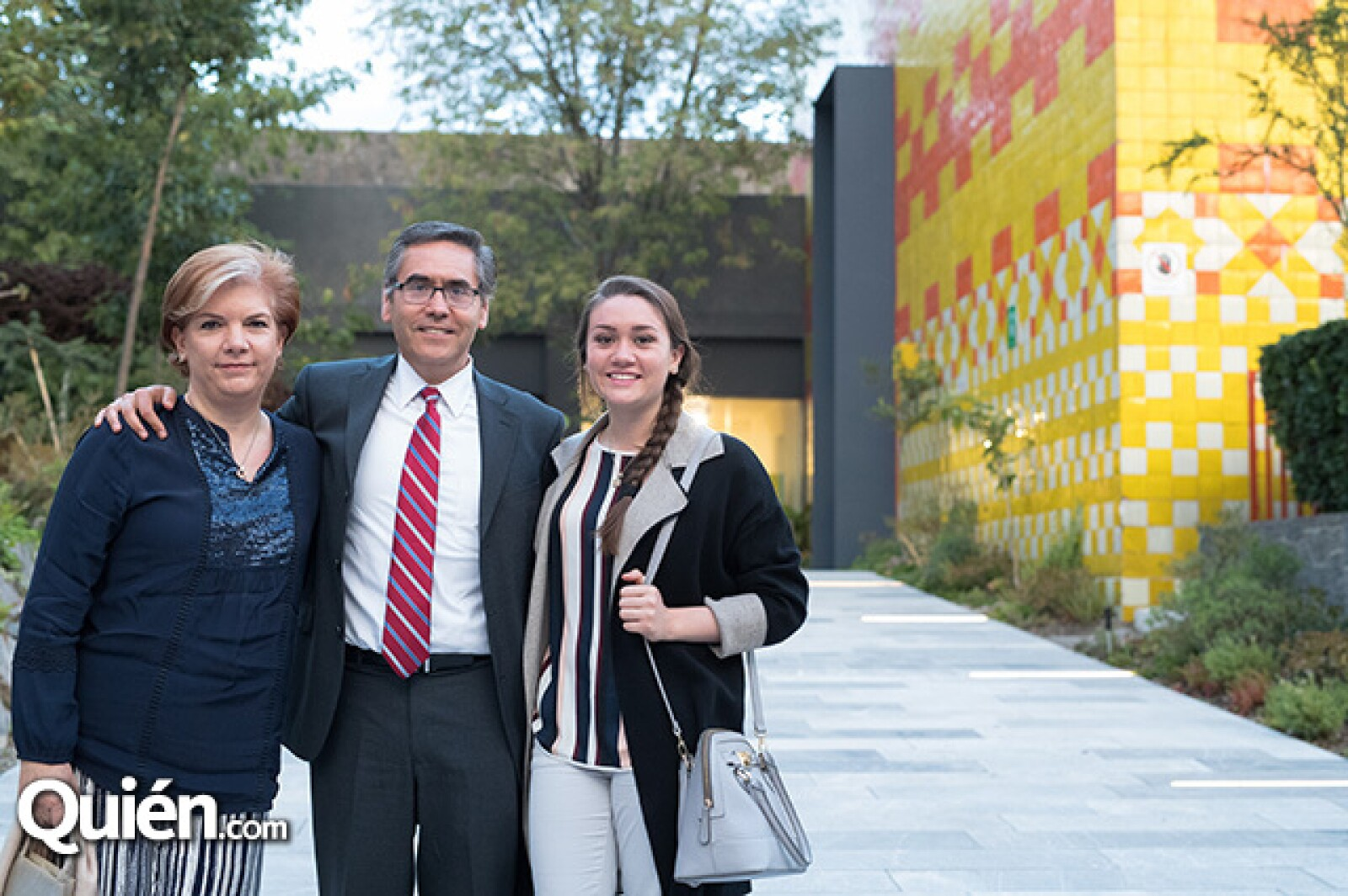 Claudia, Mauricio y Renata Castilla