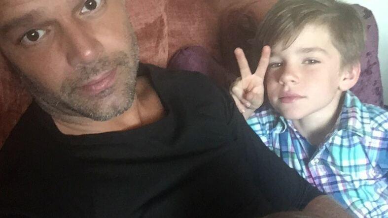 Ricky Martin y su hijos Mateo y Valentino