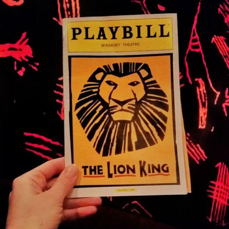 El musical El Rey León fue una de sus paradas obligadas.